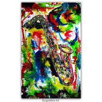 Saxofon, Wandbild, Gemälde, Instrument