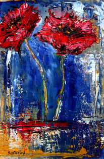 Summertime, Gemälde, Malen, Blumen