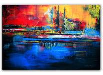 Struktur, Gelb, Acrylmalerei, Abstrakte kunst