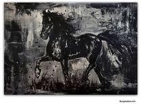 Pferde, Malen, Acrylmalerei, Malerei