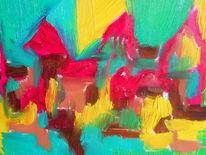 Schaft, Malerei, Dorf,