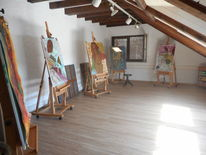 Ruhe, Licht, Atelier, Pinnwand