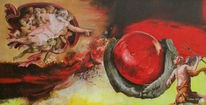 Götter, Teufel, Feuerkugel, Malerei