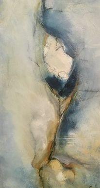 Abstrakt, Blau, Knospe, Sand