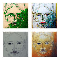 Gesicht, Malerei, Digital, Mädchen