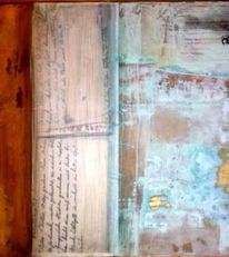 Braun, Gold, Blau, Patina