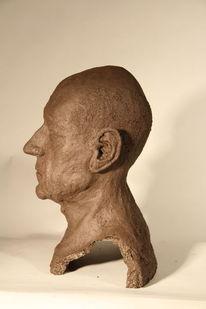 Ton, Portrait, Skulptur, Kopf