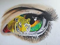 Tigerauge, Malerei