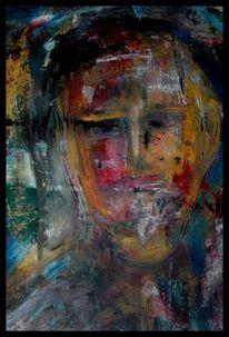 Portrait, Mischtechnik, Ölmalerei, Acrylmalerei