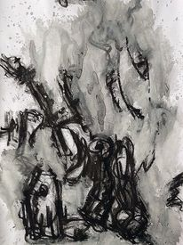 Mischtechnik, Ausdrucksmalerei, Malerei, Befindlichkeit