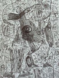 Befindlichkeit, Zeichnung, Landschaft, Zeichnungen