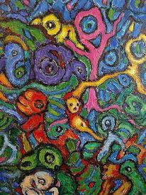 Landschaft, Malerei, Ausdruck, Farben