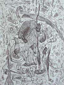 Zeichnung, Ausdruck, Befindlichkeit, Zeichnungen