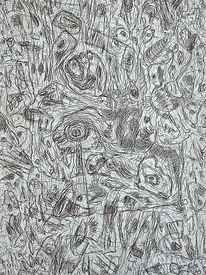 Zeichnung, Befindlichkeiten, Ausdruck, Landschaft