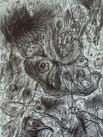 Zeichnung, Ausdruck, Landschaft, Zeichnungen