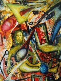 Ausdrucksmalerei, Mischtechnik, Befindlichkeit, Malerei