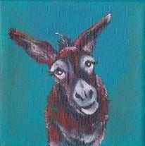 Esel, Tiere, Malerei
