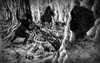 Schatz, Schwarz weiß, Geheim, Wald