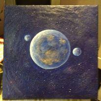 Universum, Fantasie, Himmel, Mond