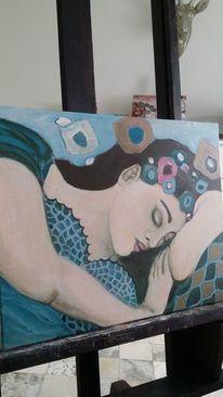 Schlaf, Türkis, Blaulicht, Dame