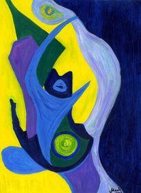 Blau, Fantasie, Formen, Grün