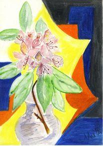 Rhododendronblüte, Formen, Schwingen, Kontrast