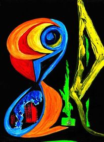 Gelb, Abstrakt, Figur, Schwingen