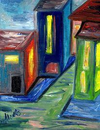 Häuser, Fantasie, Gegensatz, Kontrast