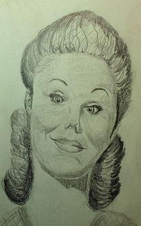 50er, Zeichnungen, Portrait