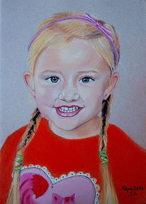 Kinderportrait, Malerei