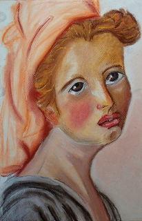 Frauenportrait, Malerei, Menschen, Traurig
