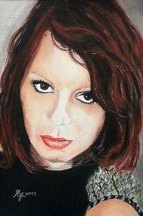 Portraitzeichnung, Augen, Portrait, Mädchen