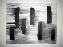 Abstrakt, Stummen, Schwarz weiß, Zeug
