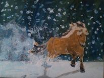 Schnee, Malerei,