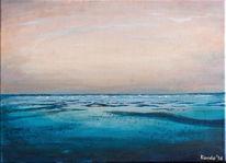 Wasser, Küste, Malerei, Nass