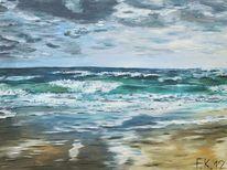 Nordsee, Brandung, Strand, Meer