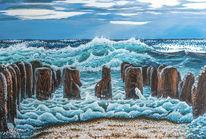 Traumstrand, Nordsee, Acrylmalerei, Schlecht