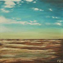 Malerei, Nordsee, Landschaft, Wasser