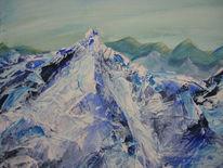 Berge, Malerei, Letzten, Ausschnitt
