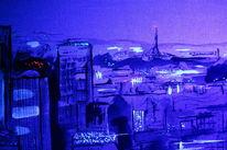 Stadt, Nacht, Licht, Malerei