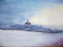Kälte, Landschaft, Schnee, Malerei