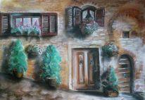 Malerei, Gasse, Kroatien