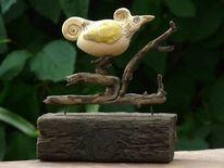 Vogel, Balkon, Keramik, Holz