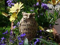 Keramik, Gartenkeramik, Eule, Dekoration