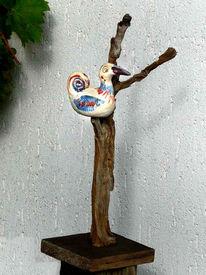 Balkon, Brennen, Vogel, Keramik