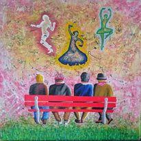 Modern, Acrylmalerei, Malerei, Gemälde