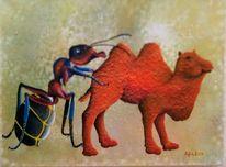 Malerei, Fantasie, Abstrakt, Acrylmalerei