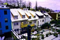 Landschaft, Haus, Schnee, Vorstadt2