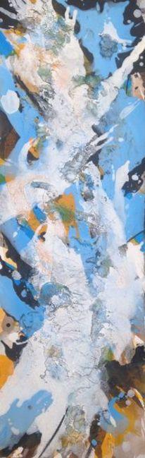 Schwarz, Acrylmalerei, Weiß, Marmormehl