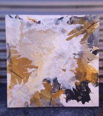 Zeitgenössisch, Gelb, Marmormehl, Acrylmalerei